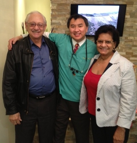 Alvin & Delrine with Dr Li. They visit us all the way from Texas.