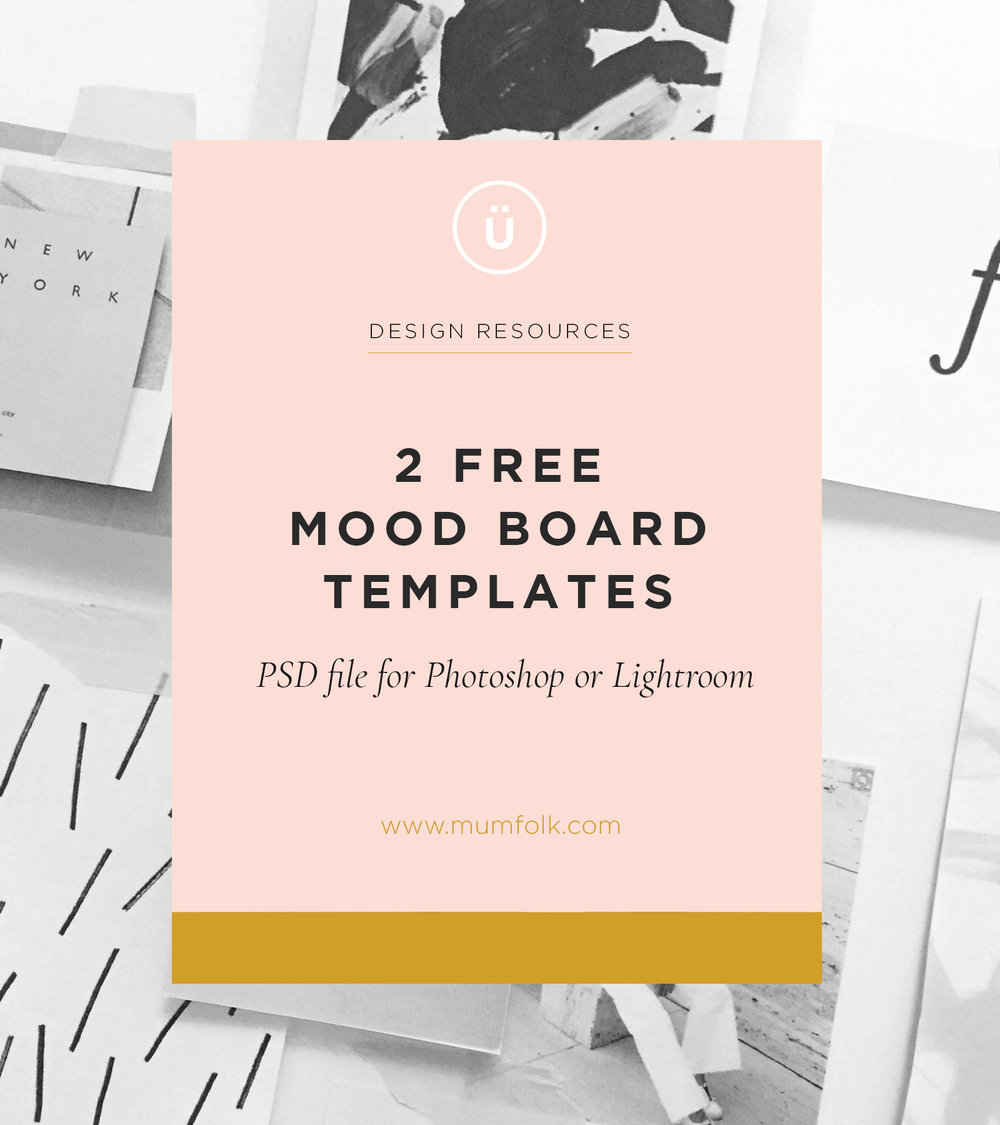 2 free mood board templates mum folk