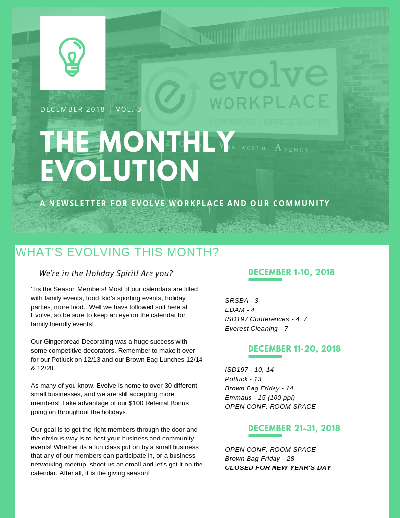 The Monthly Evolution: Vol. 3