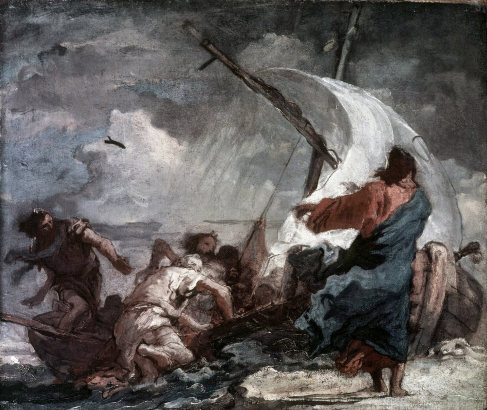 Jesus Walking on Water by Giovanni Tiepolo