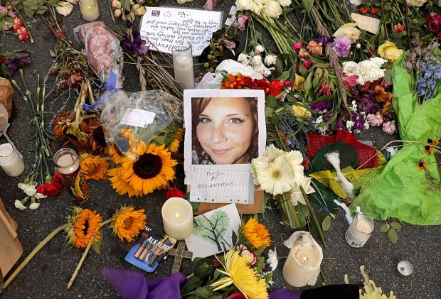 Floral Tribute to Heather Heyer, who was killed in Charlottesville, VAon August 11
