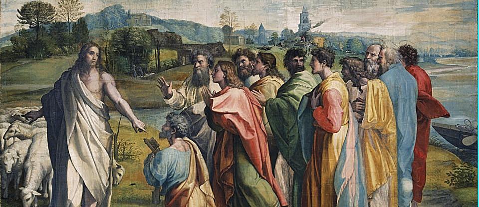 """""""Peter's Confession"""" by Raphael Sanzio da Urbino"""