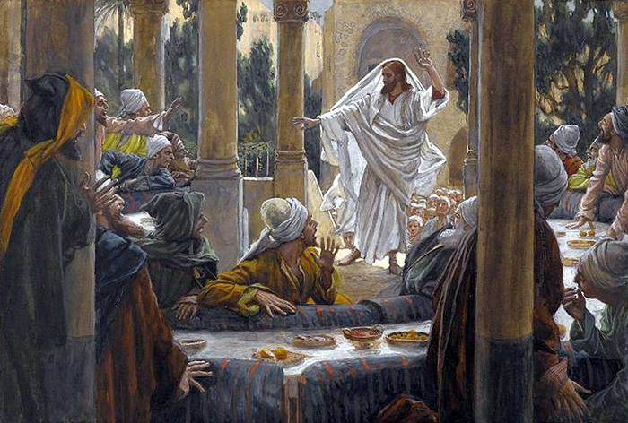 Reproving The Pharisees by James Tissot