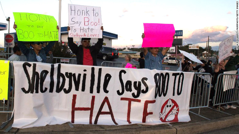 Shelbyville, Tennessee Counter-Protest,  October 28