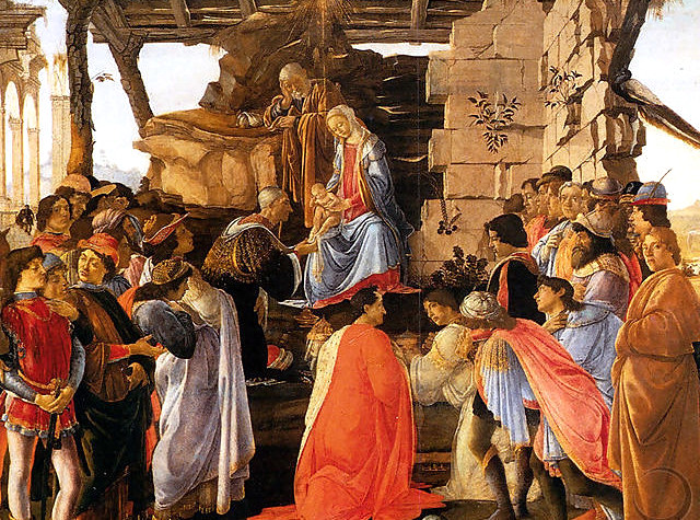 """Adoration of the Magi"" by Sandro Botticelli"