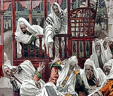 Healing in Capernaum Synagogue by James Tissot