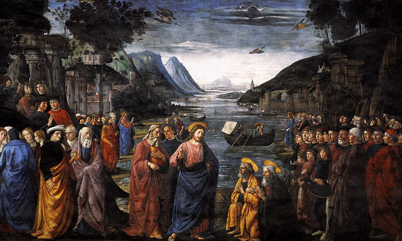 Jesus at Capernaum by Domenico Ghirlandaio