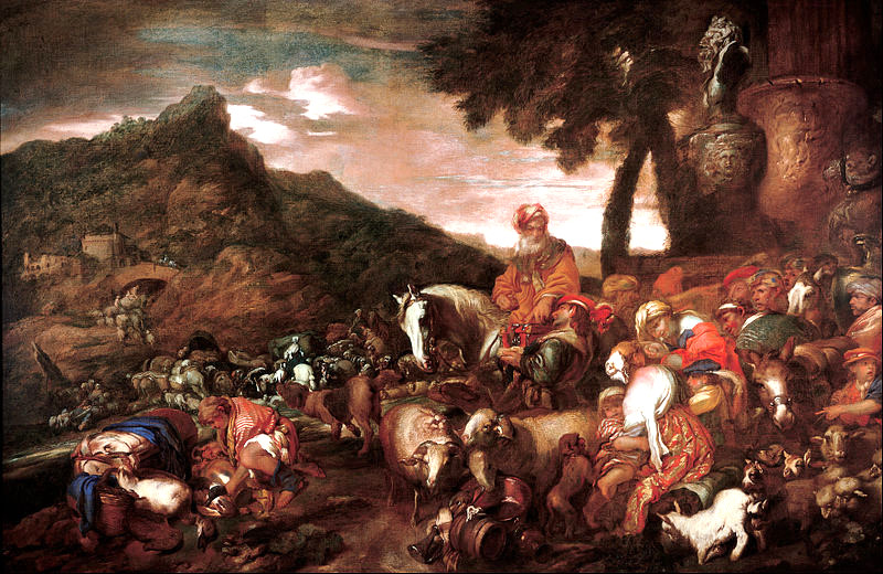 Journey of the Family of Abraham by Giovanni Castiglione