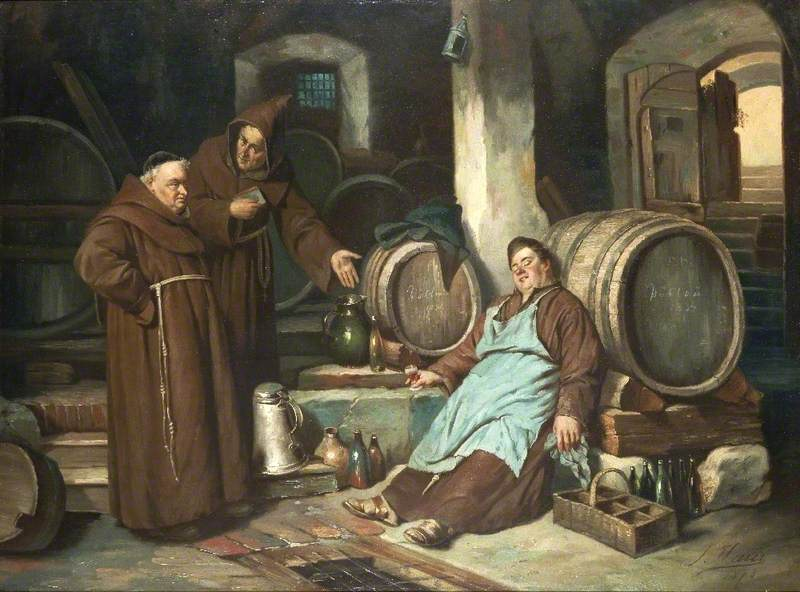 """Monks in the Cellar"" by Joseph Haier, 1873"