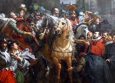 Good King Henry arriving in Paris, March 22, 1594