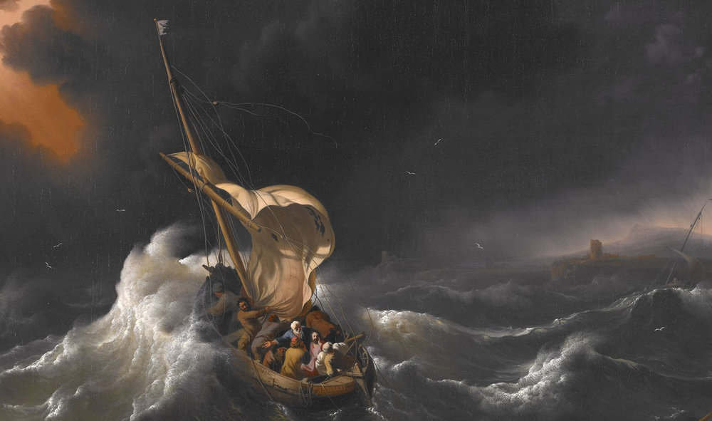 """Christ in the Storm"" by Ludolf Backhuysen, 1695"