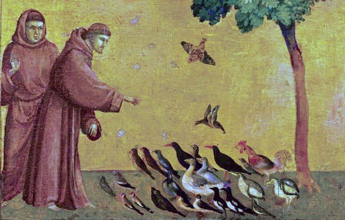 """""""St Francis Feeding the Birds""""  by Giotto"""