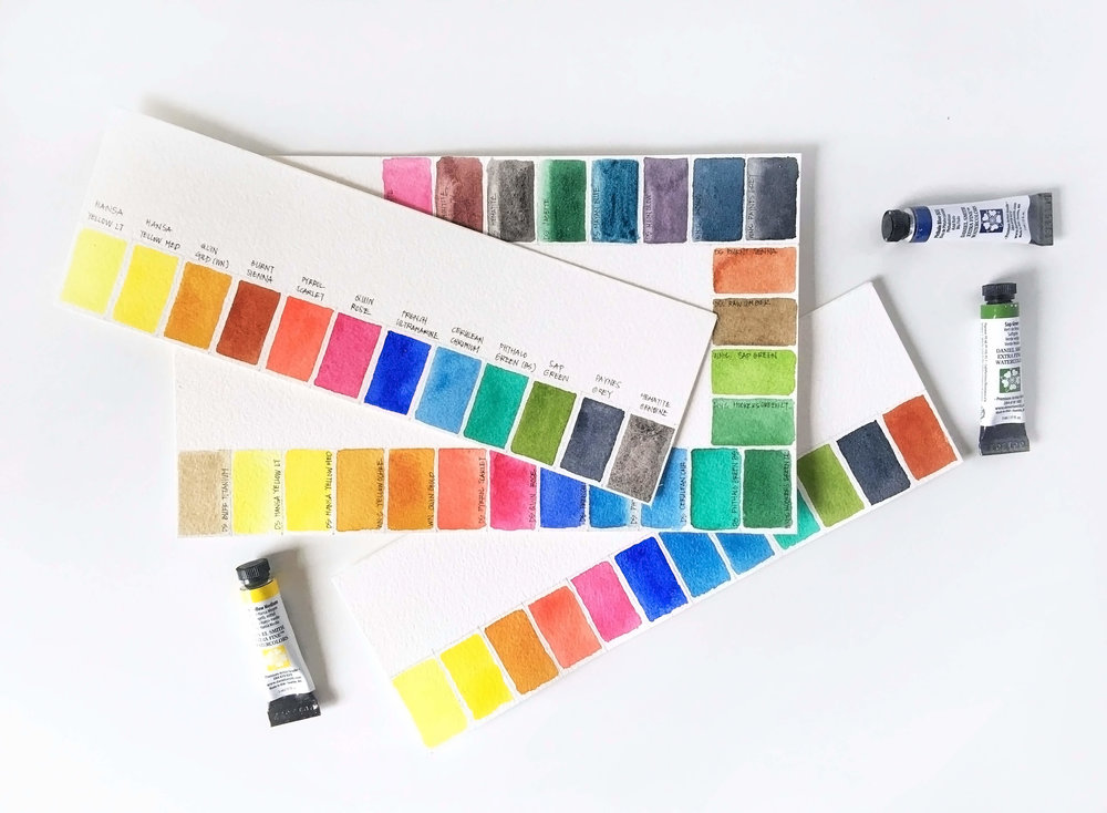 5 Types Of Watercolor Charts Type 1 Basic Color Chart Rae Lily
