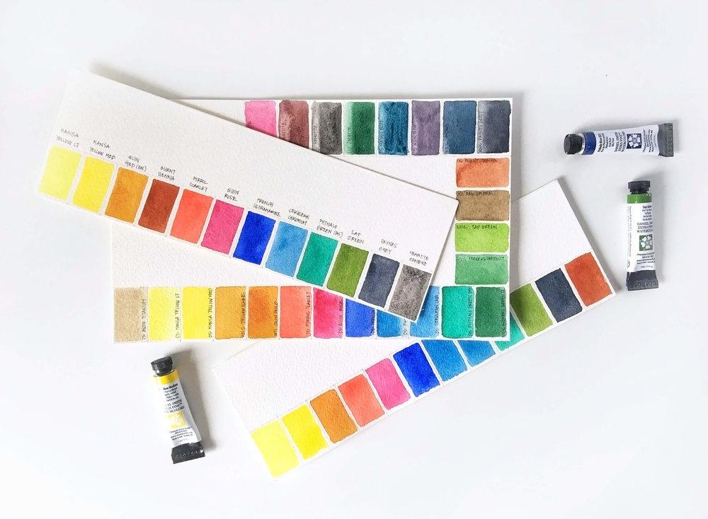 Watercolor Charts