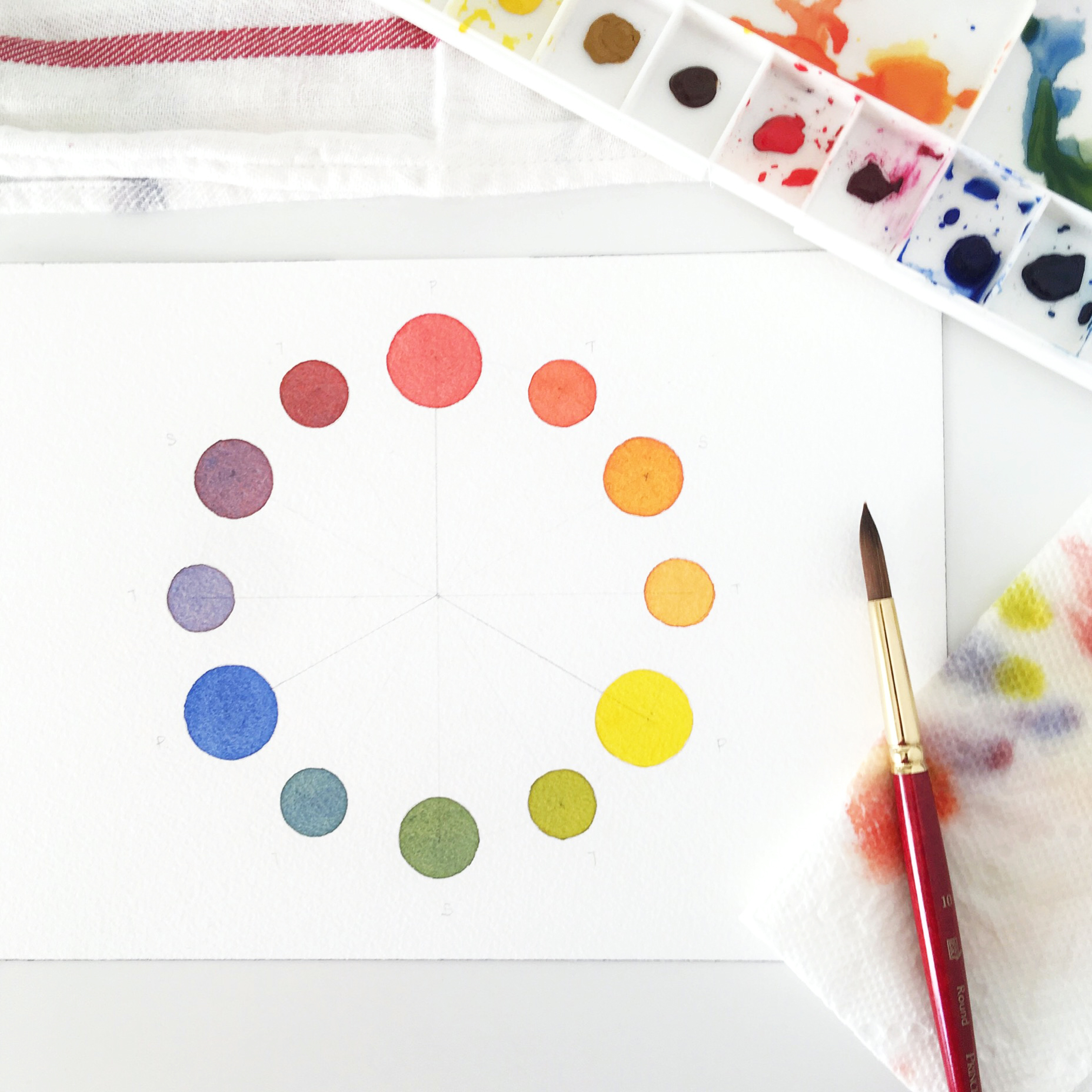 5 types of watercolor charts type 3 color wheel rae lily 5 types of watercolor charts type 3 color wheel geenschuldenfo Gallery