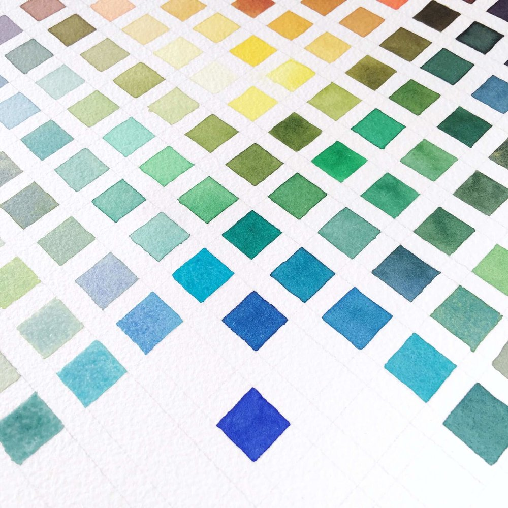 Watercolor Color Mixing Charts
