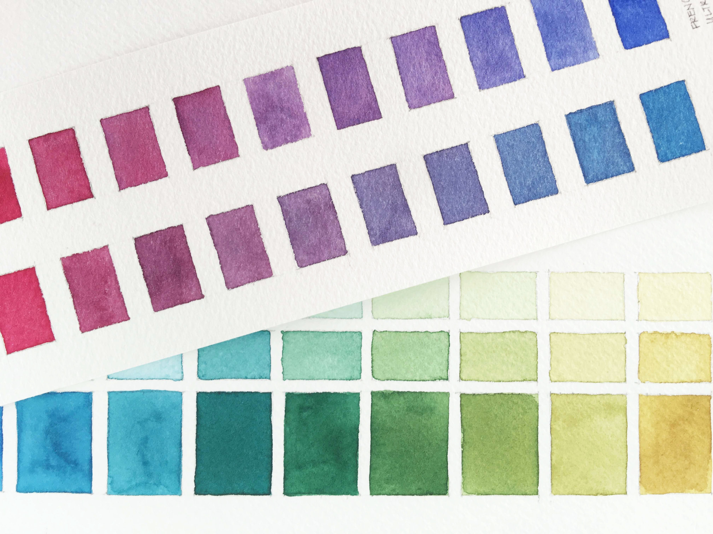 5 types of watercolor charts type 5 two color mixing chart 5 types of watercolor charts type 5 two color mixing chart nvjuhfo Images