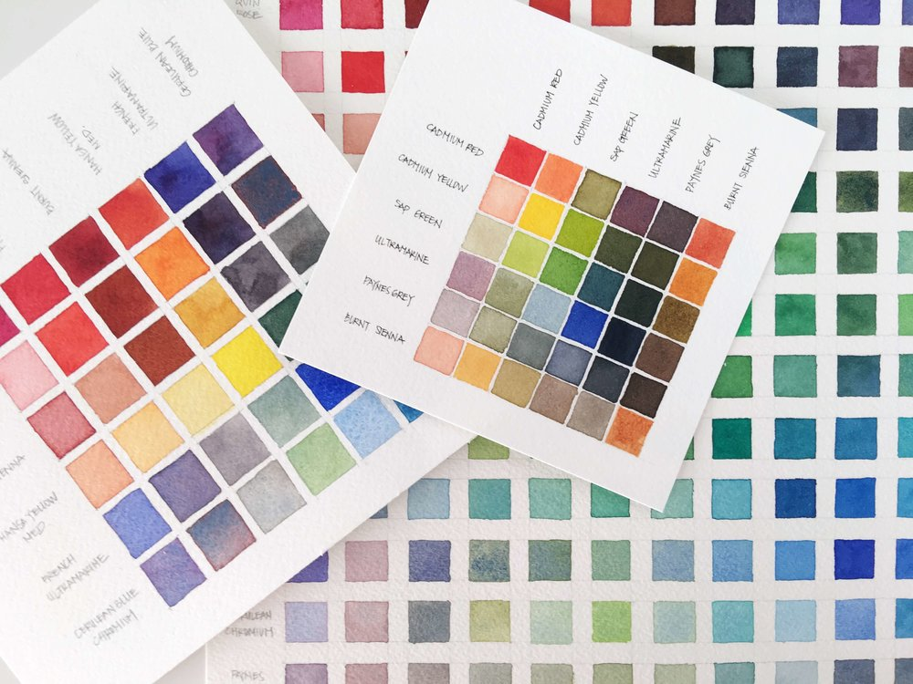 Watercolor Color Chart