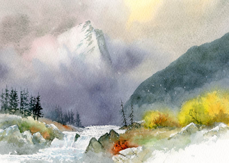 A beautiful example of the ability to get hard crisp lines and soft blends with watercolors from David Bellamy.  Photo Source:    www.davidbellamy.co.uk