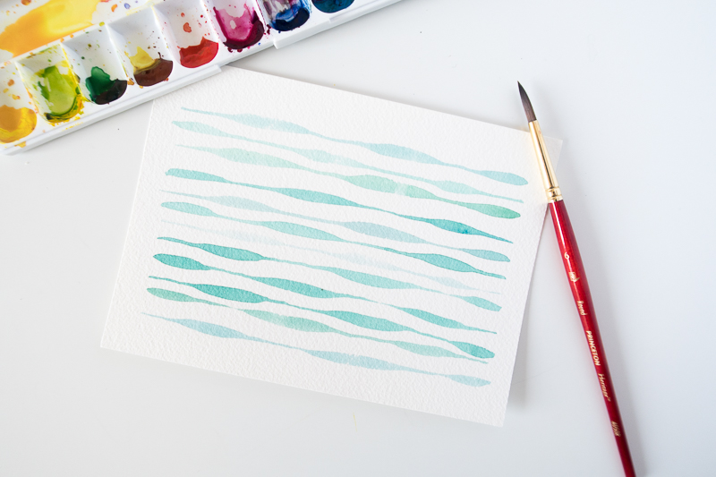 Watercolor Brush Stroke Exercise: Thin to Thick Pressure Control