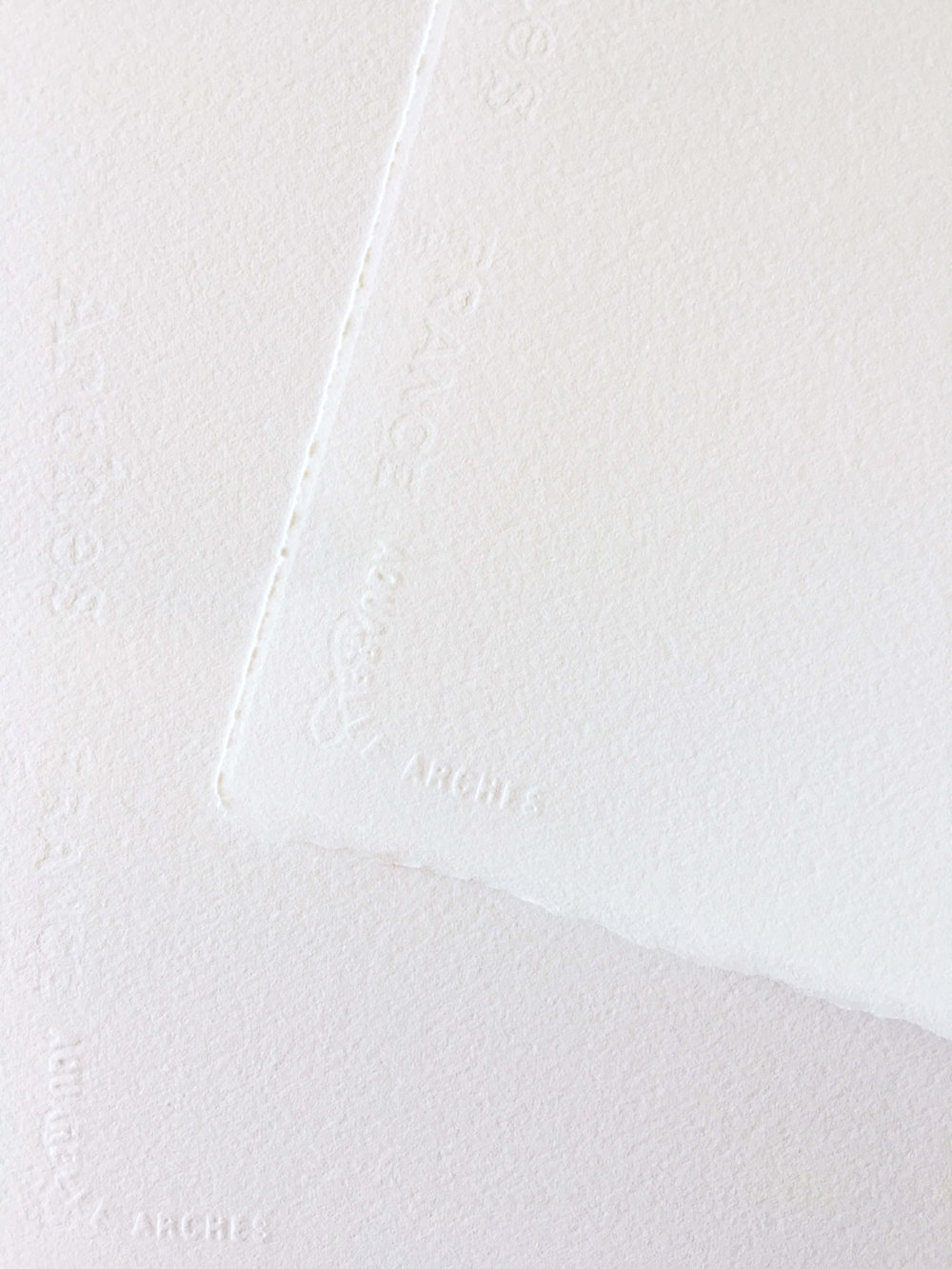 Deckled Edges on Arches Watercolor Sheets