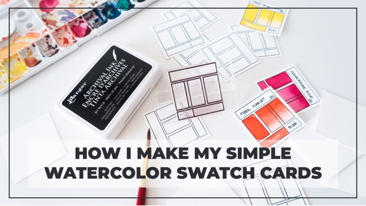 How To Make Simple But Useful Watercolor Swatch Cards Rae Lily