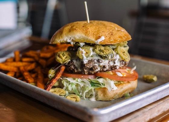 Jalepeno ranch burger