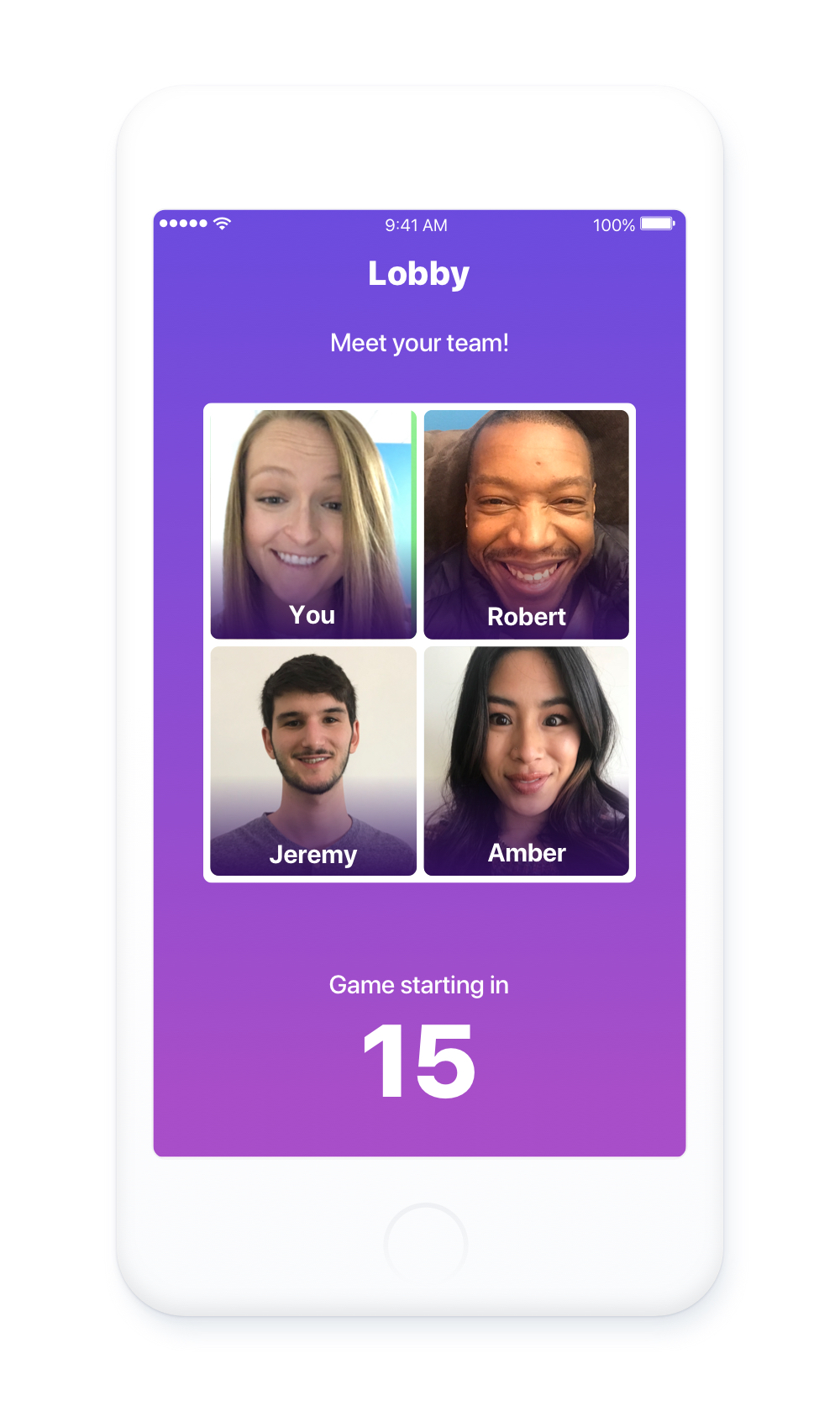 More friends, more fun. - Did you really kick it off with one or more of your teammates? Add them as a friend to stay in touch! When trivia isn't in session, you can group video chat with other people on Lively.
