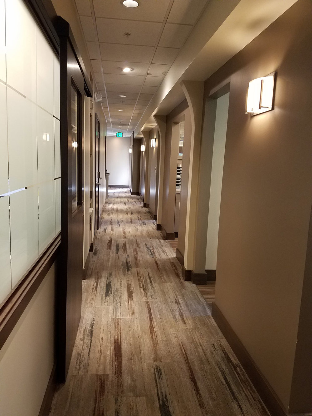 Looking back down the hall towards waiting room at Criscione Family Dental