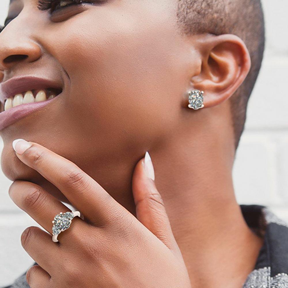 Stud Earrings - featuring Lab Created Diamonds