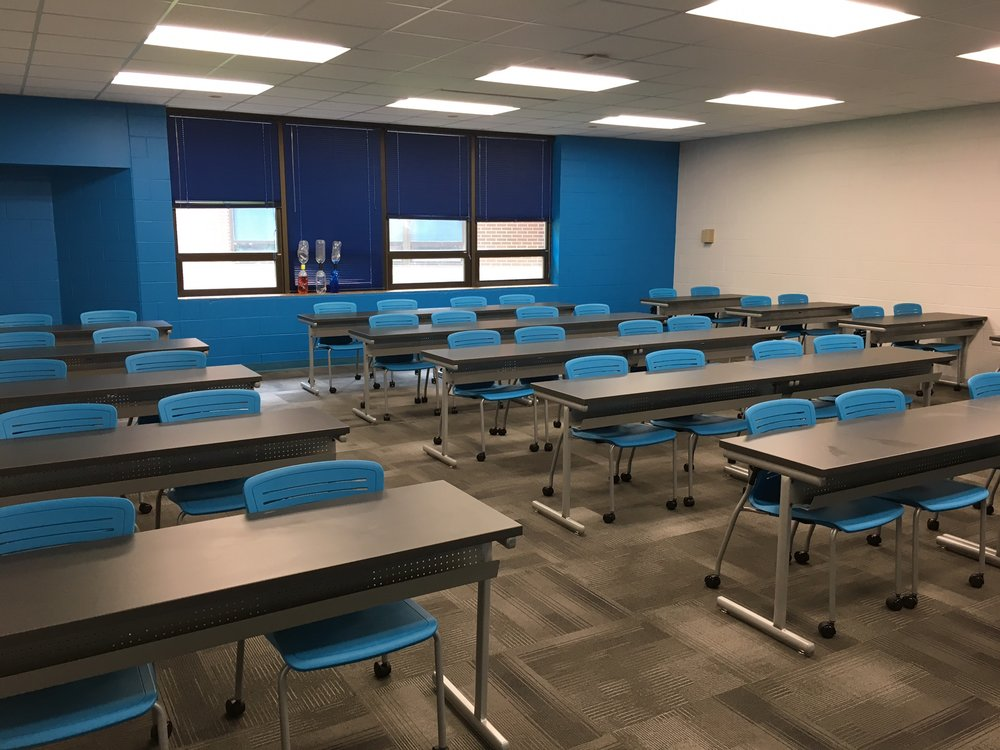 Jacksonville State University - Active Learning Table Install Pic 1.JPG