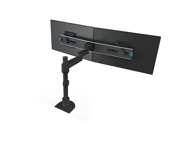 9112 - Switch - Articulating Dual Monitor Pole Mount Arm