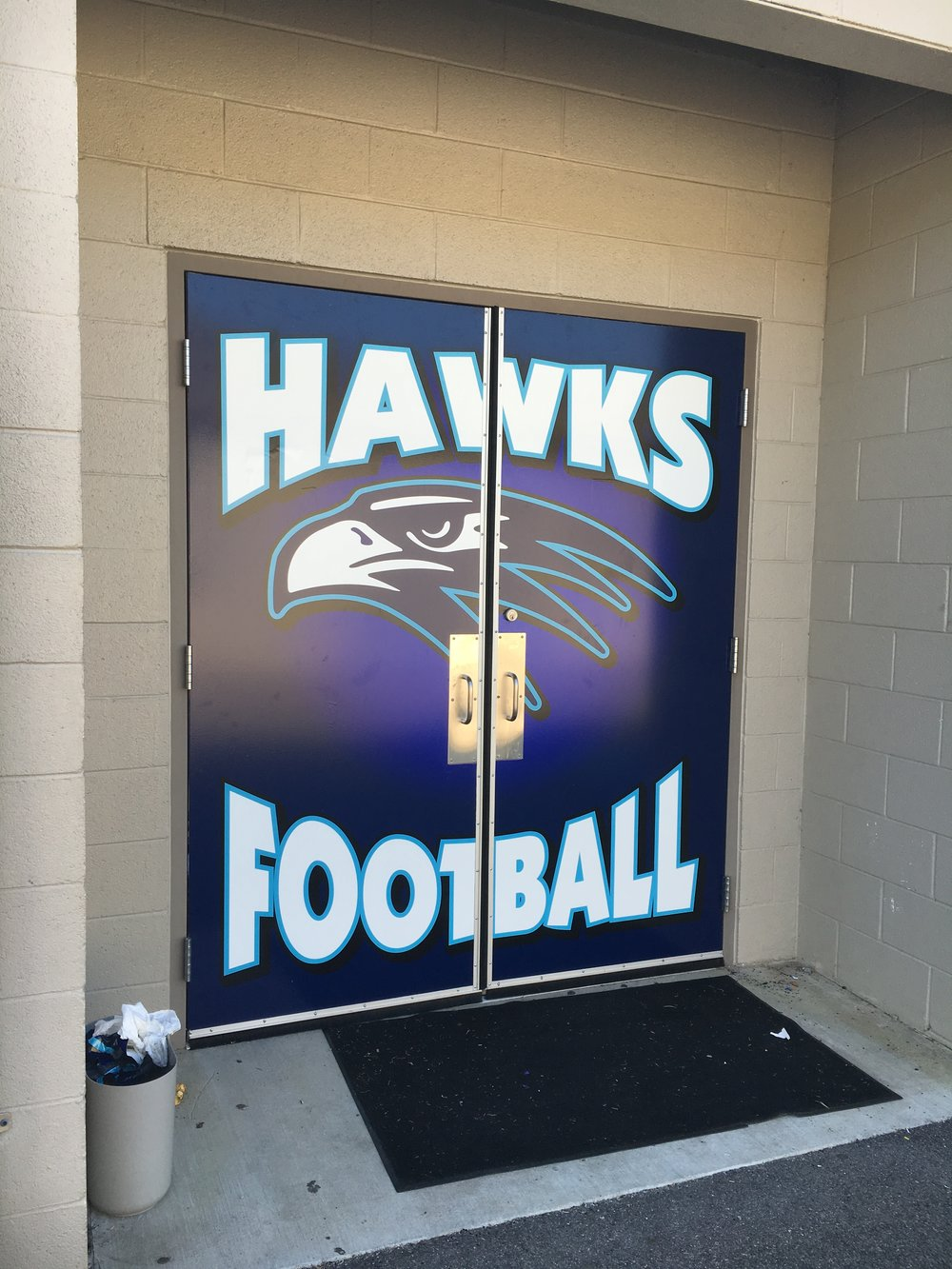Football Door Wrap