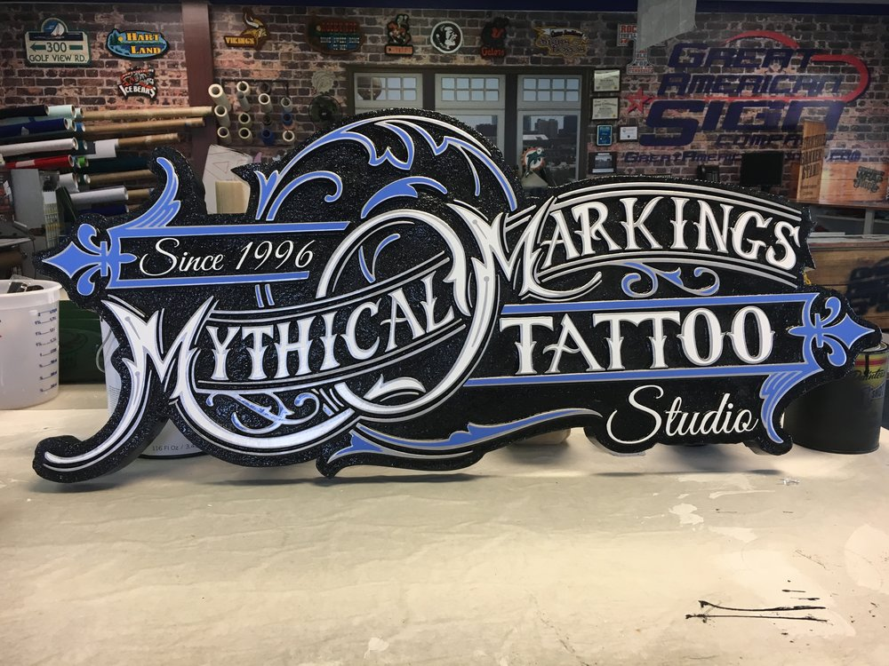 Detailed Sandblasted sign