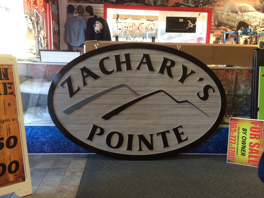 Oval Sandblasted Sign