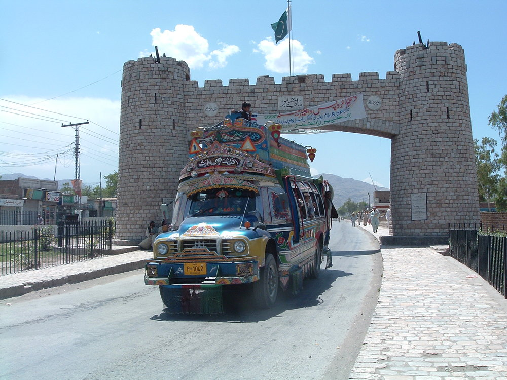 Truck at Torkham Border Crossing