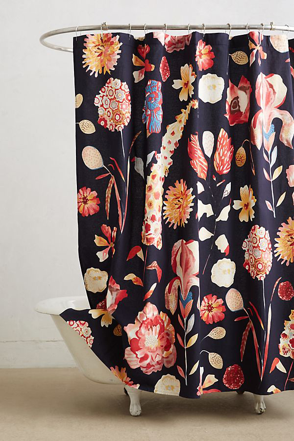 Anthropologie Floral Shower Curtain