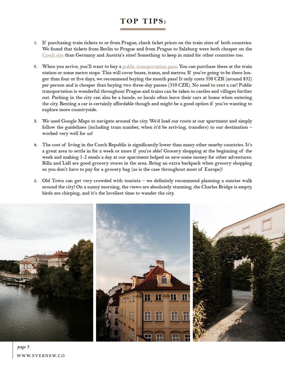 Week Travel Guide in Prague, Czech Republic