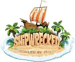- June 24 - 5:00pm - 8:00pm                                          June 25 - 29 - 5:30pm - 8:00pm                                    Rising 4K - 6th GradeEach day at Shipwrecked, as kids participate in Bible lessons, crafts, music, snacks and games, they will discover that Jesus rescues them from life's storms.