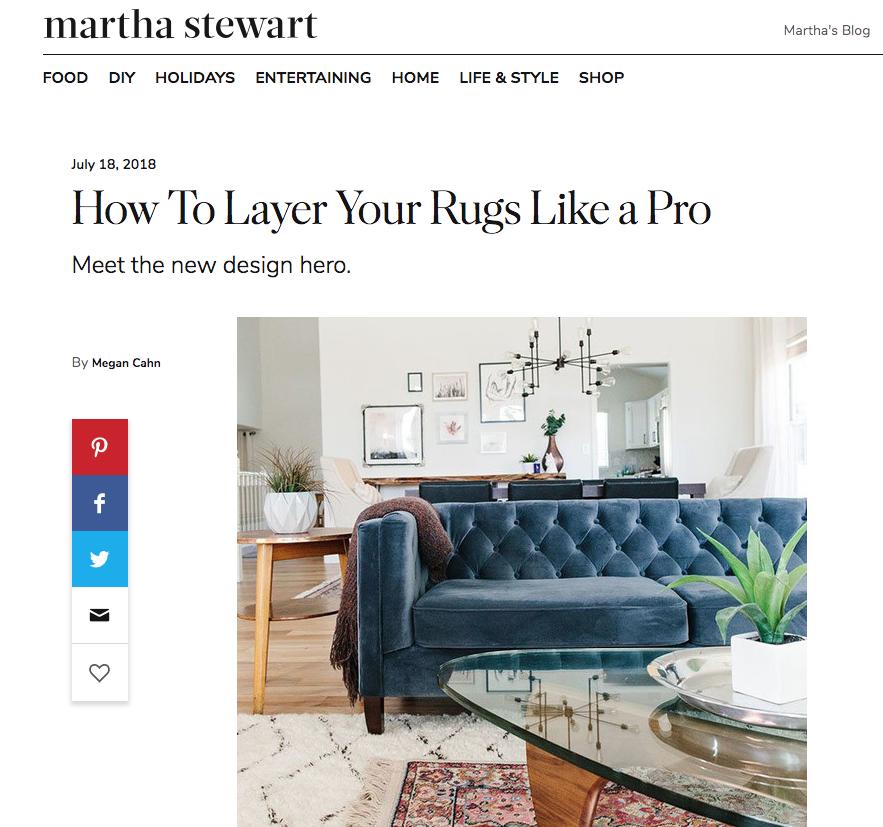 As seen in  Martha Stewart