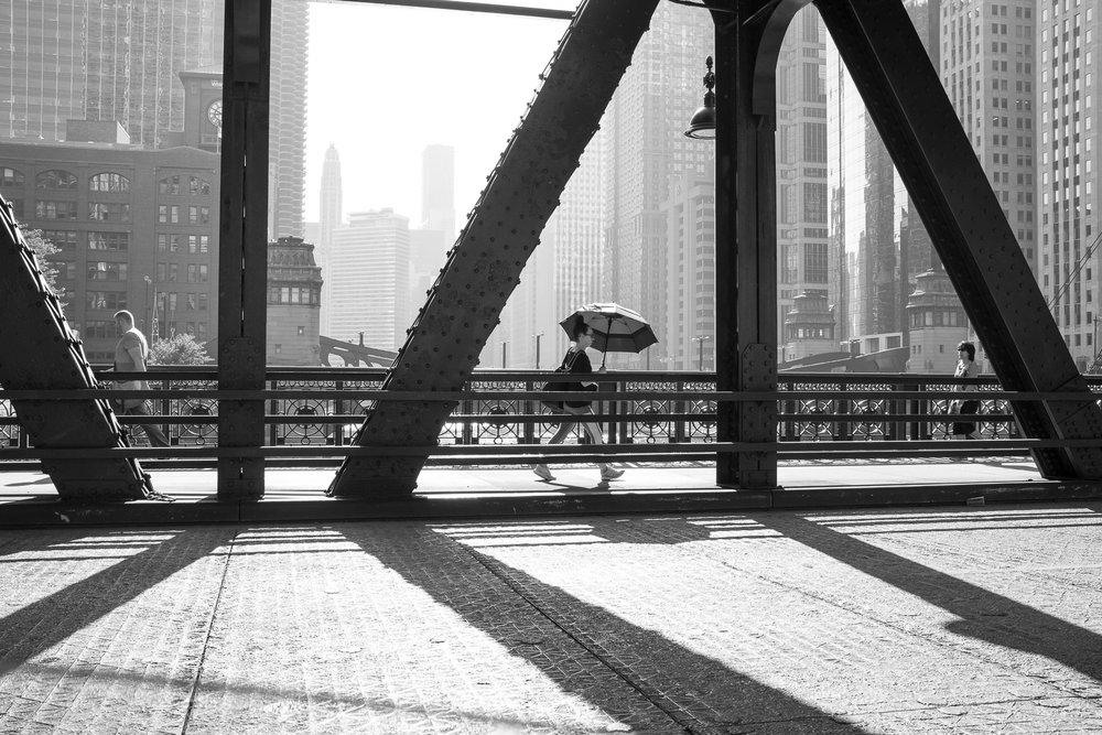 Wells Street Bridge, Chicago, 2015 Fujifilm X100T 35mm f/8