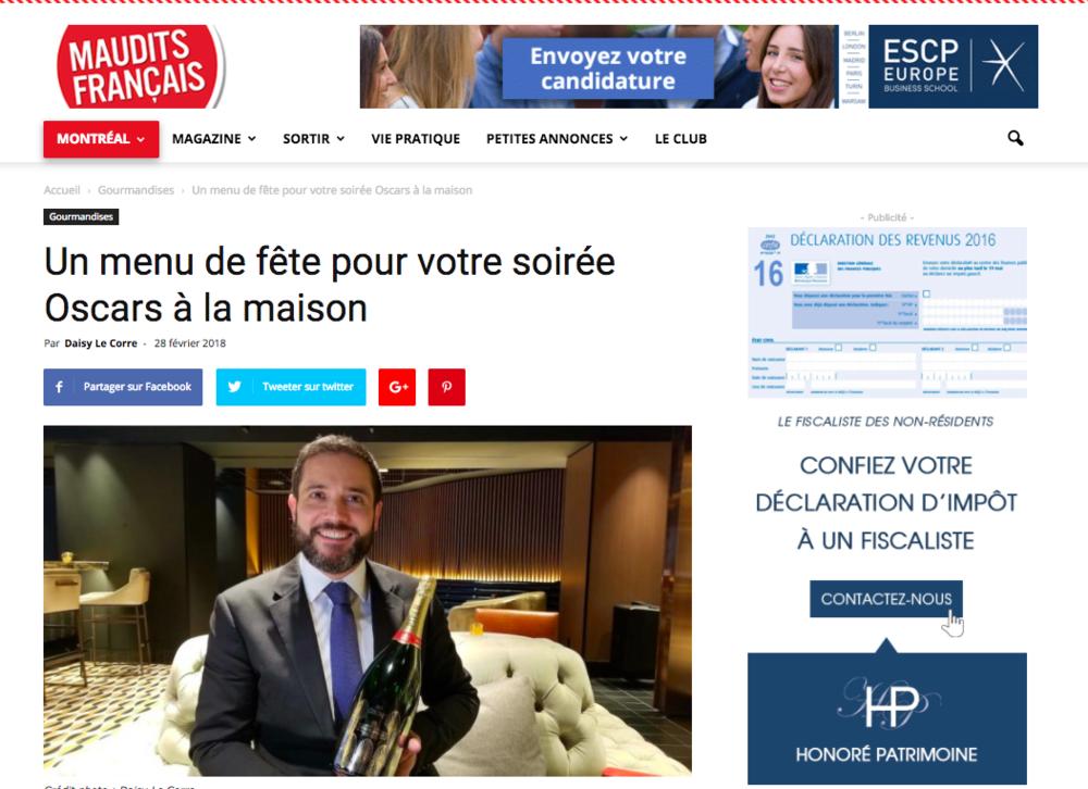 Entrevue avec Maudits Français