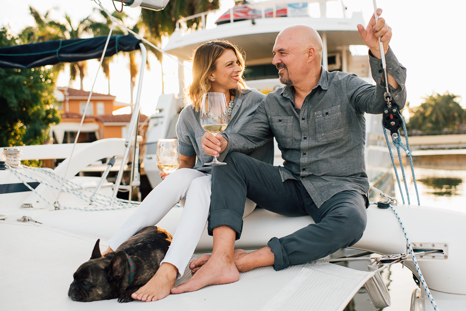 fort lauderdale couples lifestyle photographer couple on a boat