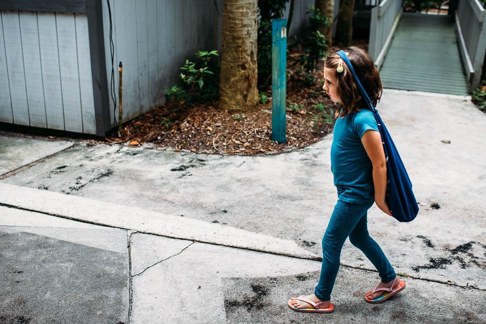 Little girl at Flamingo Gardens in Davie, Florida