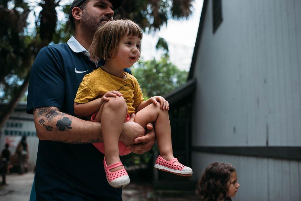Children at Flamingo Gardens in Davie, Florida