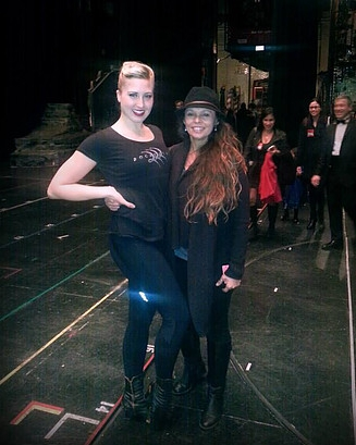 Elizabeth Bork & The Rockettes - Natalie with client and Rockette, Elizabeth Bork at Radio City Music Hall
