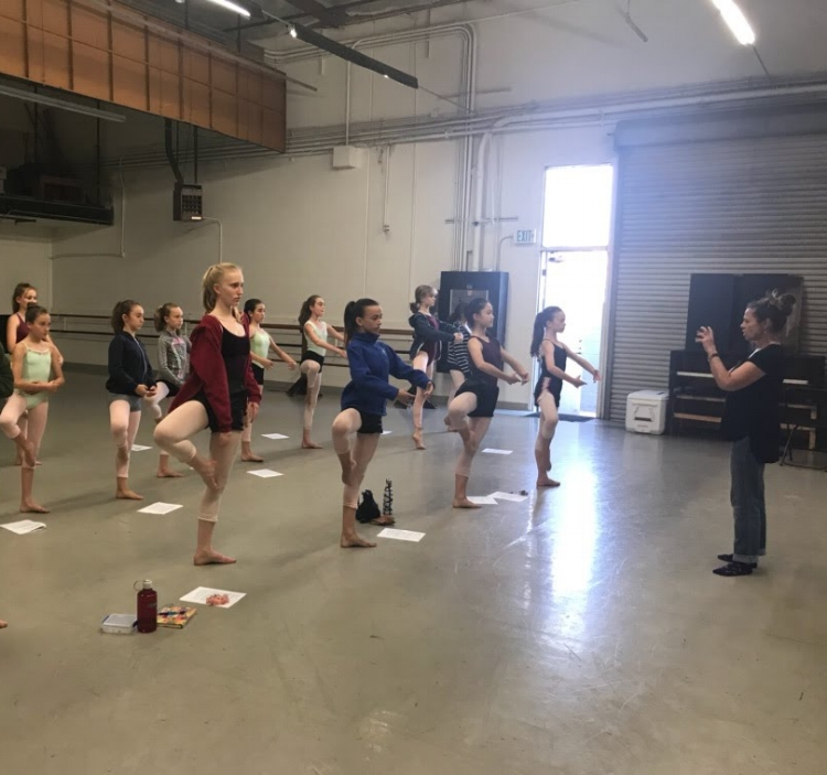 Westside School Of Ballet - Summer Intensive 2018 Dance anatomy workshop on hip turnout and balance.