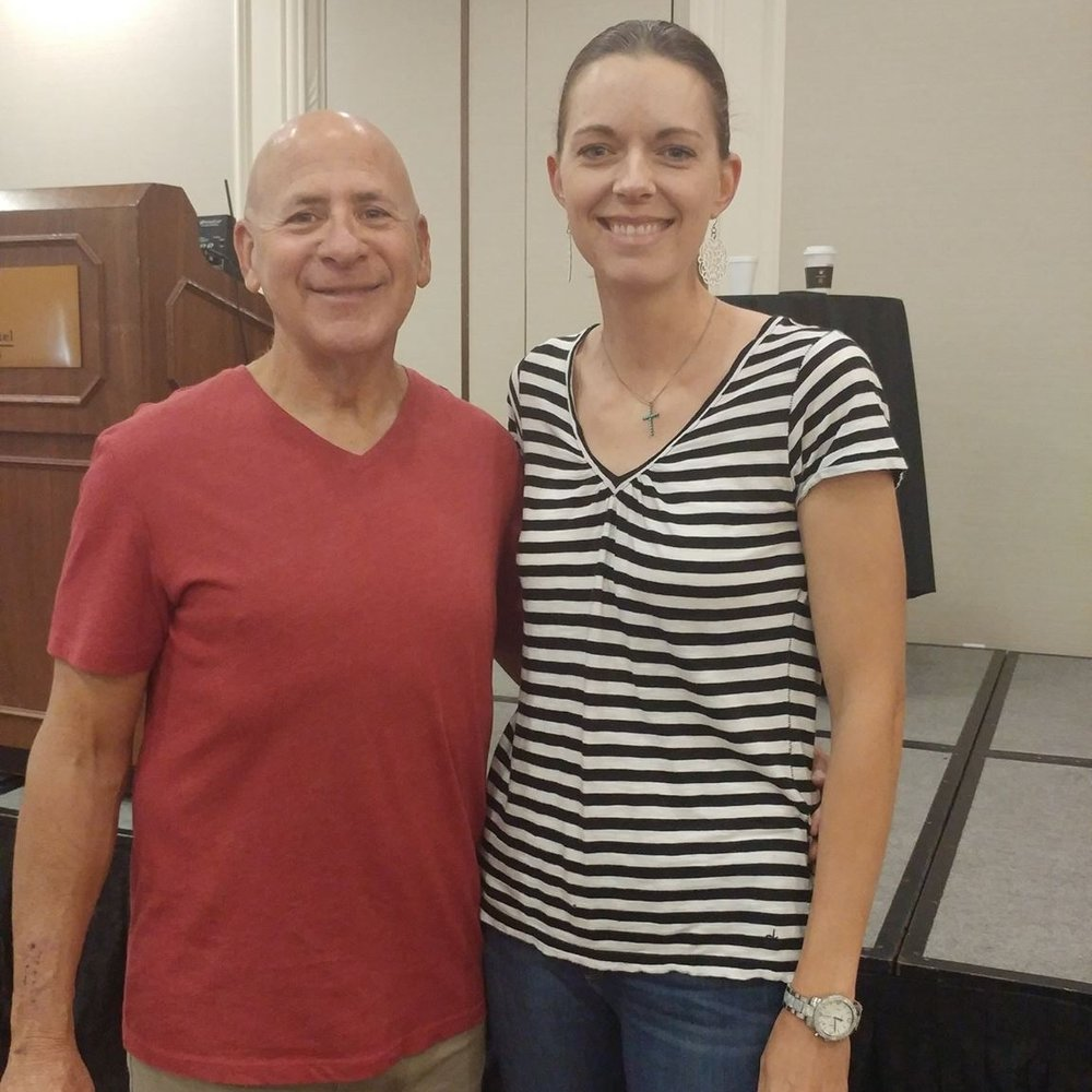 Crystal Blaker from Ruff House Dog Training & Behavior Modification meeting Joel Silverman at the 2017 IACP Conference in St. Louis.
