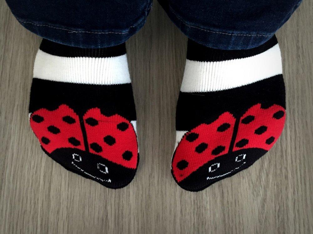 Lady Bug KBell Socks