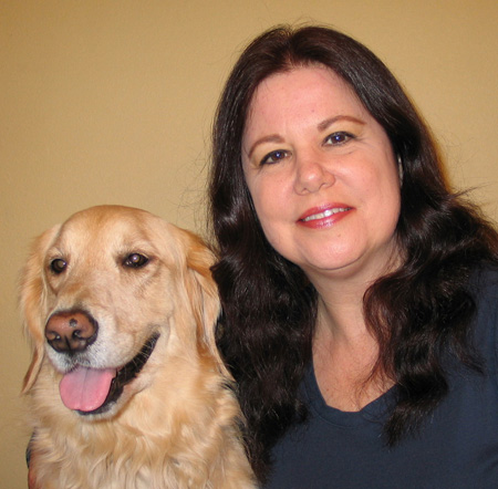 Rachele Baker, DVM with the love of her life Savanna, her Golden Retriever pup. Be sure to check out Dr. Baker's book Dog Health Care: 7 Simple Ways to Keep Your Dog Healthy.